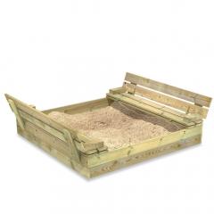 Zandbak Flip met klapdeksel 120x125 cm  620247